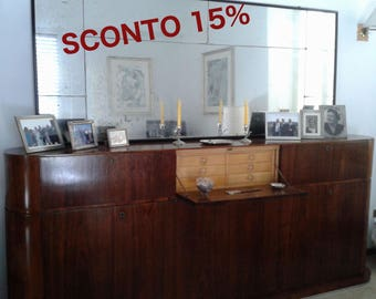 15% 0ff - Antique furniture - sideboard buffet with mirror -Made in Italy - 40s