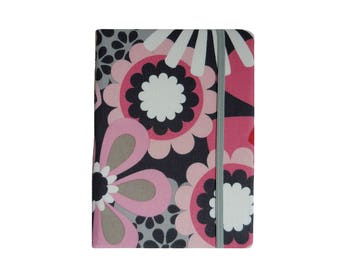 Kindle Paperwhite Case, Kindle Paperwhite Cover Hardcover, Kindle Case, Amazon Kindle Fire HD 6 7 8, Kindle Cover, Pink Gray Flowers Dots