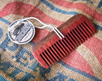 Wooden Comb - Padauk & Walnut