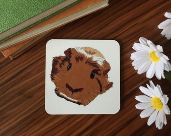 Guinea pig coaster. Guinea. GP. Small pet. Gift for her. Mother's Day. Furry friend