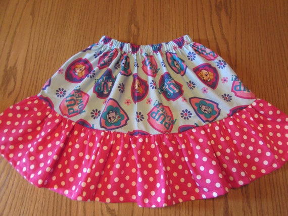 Paw Patrol skirt/girls skirt/Paw Patrol gift/Paw Patrol Birthday/gift for girls/cotton skirt/ruffled skirt/toddler skirt/
