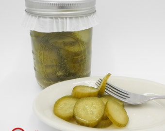 Homemade Bread and Butter Pickles made with love, laughter, and a ladle.