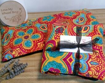 Gorgeous Bright Paisley Print Wheat Bag Heat Pack 40cm x 20cm