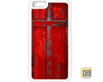 Galaxy S8 Case, S8 Plus Case, Galaxy S7 Case, Galaxy S7 Edge Case, Galaxy Note 5 Case, Galaxy S6 Case - Red Door Cross