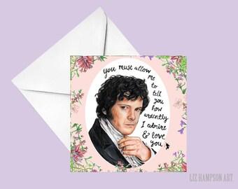 Mr Darcy Pride and Prejudice card