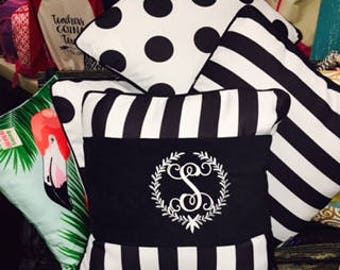 Monogrammed It's A Wrap Pillow Cover