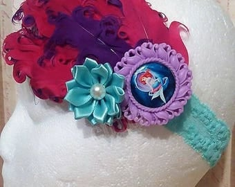Ariel Inspired Feather Headband