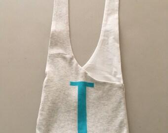 "Handmade Upcycled ""J"" Hobo Shoulder Purse"