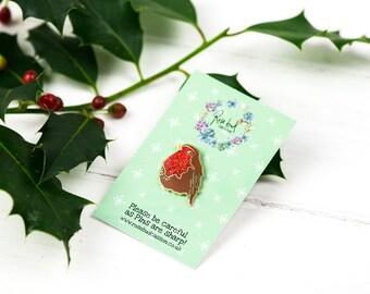 Christmas Robin Enamel Pin