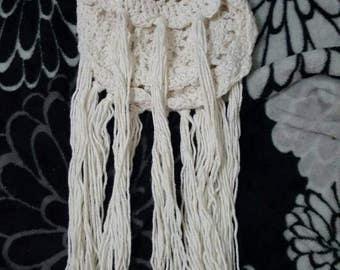 Boho crochet purse with lining and pocket