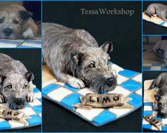 Custom handmade dog or pet sculpture FOR ORDER - polymer clay