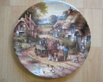 Wedgwood Plate COUNTRY DAYS Early Morning Milk 1991