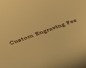 CUSTOM Engraving on your ring