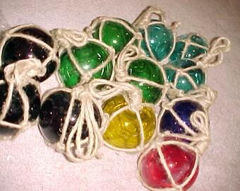 Bulk Nautical Glass Floats, Colored Floats, Glass Float, Nautical Float, Nautical Decor, Glass Floats, Rope Wrapped Floats, Nautical, Decor