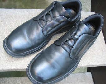 Vintage Barney's New York Black Athletic-Inspired Shoes 13 M