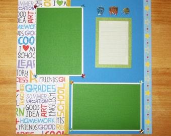 School Scrapbook Page - School Scrapbook Layout - 12 x 12 Scrapbook - First Day of School - Back To School - School Picture Day - Field Trip