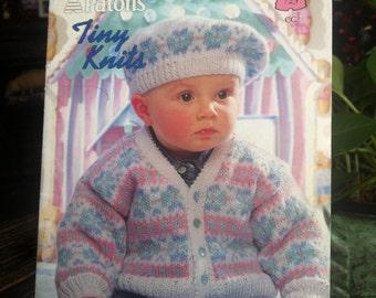 Patons  Baby Knit 1995's Pattern Book # 723 Tiny Knits Patons Fairytale