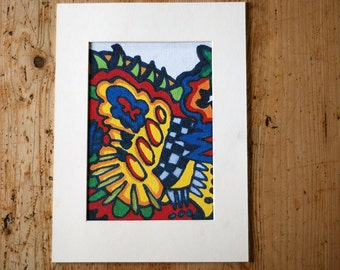 Print, color print, graffiti-drawing with markers, artprint as a gift for her and him