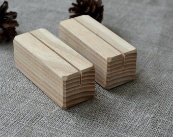 20 Wood Place Card Holders for Wedding and Party, DIY Rustic Table Number Holders, Wedding Decor, Cafe, Restaurant Table Number Holder