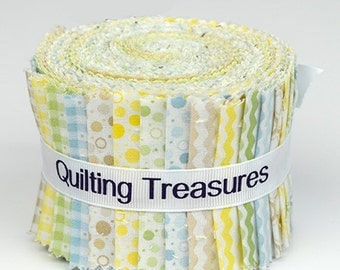 Strip Set - Sorbets Key Lime by Quilting Treasures - Cotton Fabric Jelly Roll
