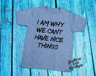 Cant have nice things tee, Little boy shirt, Boys clothing, Toddler shirt, Toddler tees, Funny kids shirt, cute kids clothing
