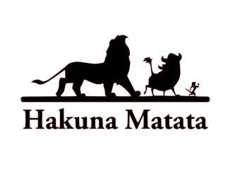Hakuna Matata SVG File (Lion King)