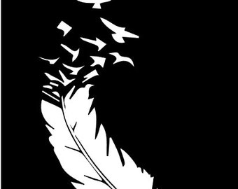 Feather to Birds SVG File