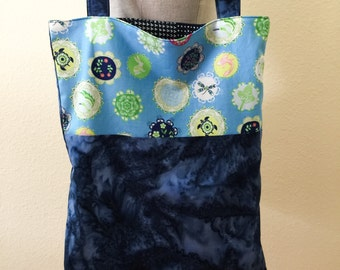 Handmade Two Sided Purse 100% Cotton Everyday Eco Bag #1