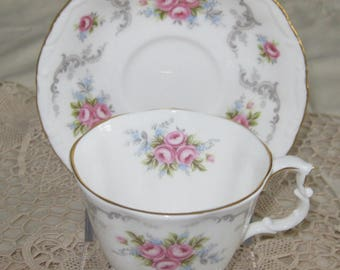 ROYAL ALBERT TRANQUILITY English Bone China Cup and Saucer