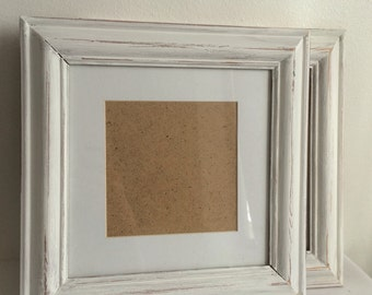 Upcycled Picture Frames, White Picture Frame, Set 0f 2 Gallery Wall
