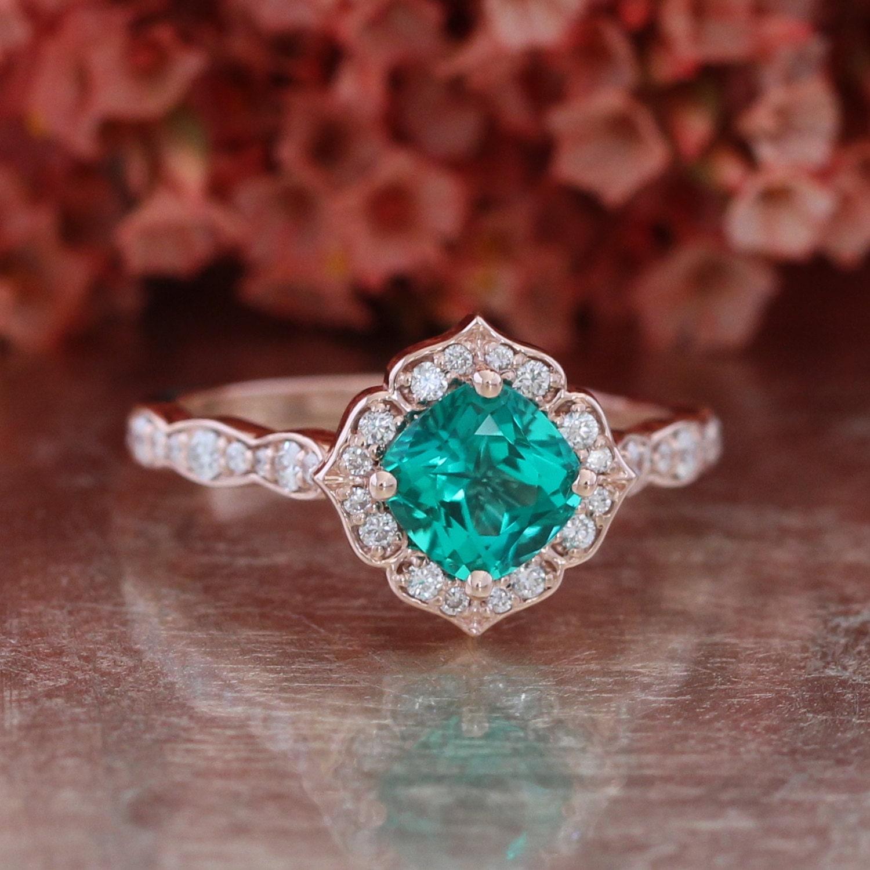 Amazing Emerald Wedding Rings Etsy