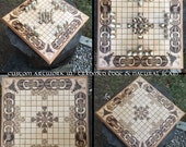 """Hnefatafl Game: """"Copenhagen Tafl"""" variant, 11x11 squares, handcrafted of maple & customizable - Tafl the Game of the Vikings - MADE TO ORDER"""
