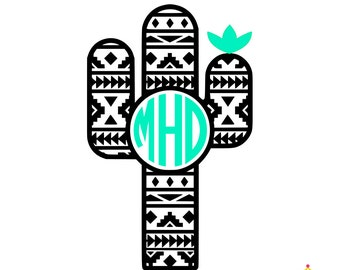 Cactus Decal, Yeti Decal Cactus, Cactus Decal for Yeti, Monogram Decal for Yeti, Monogram Car Decal, Yeti Monogram Decal, Cup Decal, Cactus