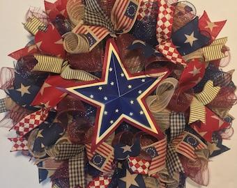 4th of July wreath, Fourth of July wreath, patriotic wreath, 4th of July wreaths, patriotic wreaths, 4th of July, wreath, patriotic decor