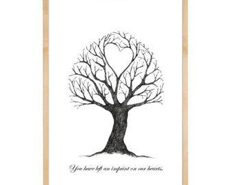 You have left an imprint on our hearts, fingerprint tree, heartfelt farewell and goodbuy, gratitude, home decor