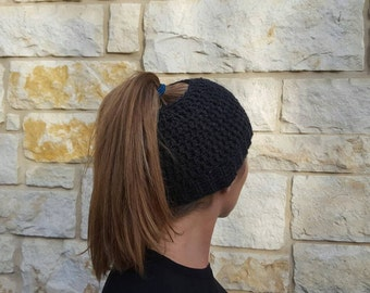 Free Shipping messy-bun hat