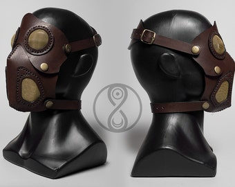Steampunk leather mask