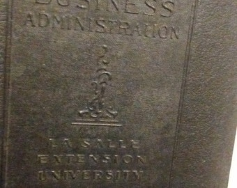 """Business Administration, La Salle Extension University, """"Business English"""" printed 1921"""