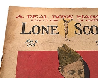 Lone Scout Newspaper    The Real Boys Magazine    November 8    1919    Photos by PET