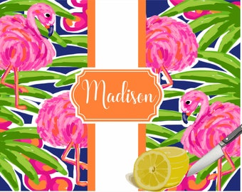 Personalized Cutting Board, Custom Tempered Glass Cutting Board, Preppy Flamingo, Realtor Closing Gift, New Homeowner, Hostess Gift