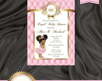 Princess Baby Shower Invitation, Little Princess Baby Shower Invite, Royal Baby Shower Invitation, Pink - Printable, Digital file, BSG05
