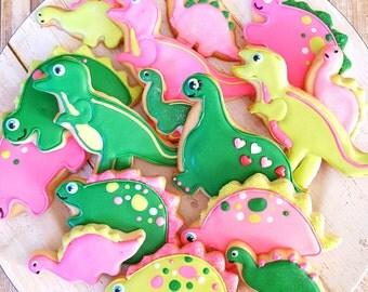 12 gourmet sugar cookies: dinosaurs