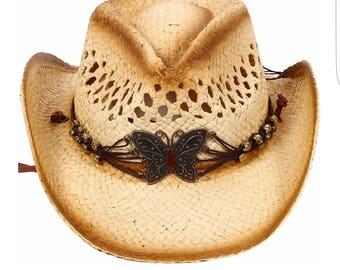 Kids Cowgirl Straw Hat