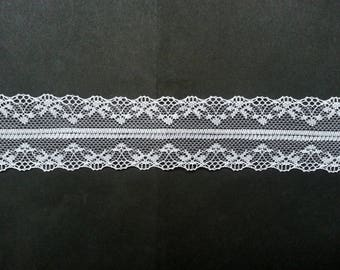 "10 Yards of White Lace Trim/ 10 Yards of White Lace Ribbon 1.4"" (3.6 cm)"