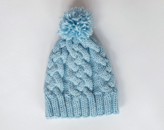Pattern - Braided Cable Knit Hat Pattern