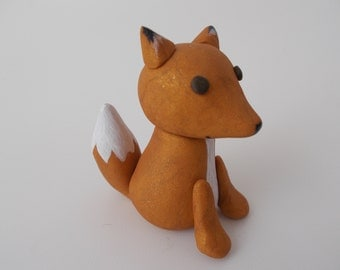 fox cake topper - woodland creatures - polymer clay