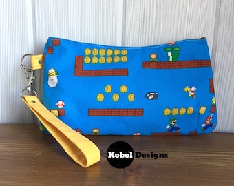 Video Game clutch or wristlet (Plumber Bros)