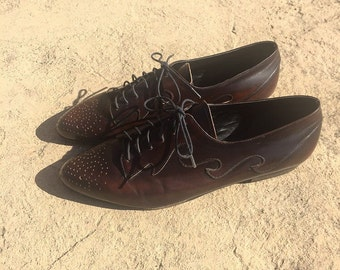 Laura lace-up leather oxfords 8