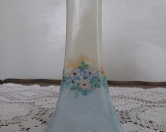 Early 20th Century Hand Painted Porcelain Hat Pin Holder/Forget-Me-Nots  #17004