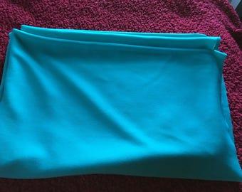 64x 1&1/2 yards aqua double-knit fabric